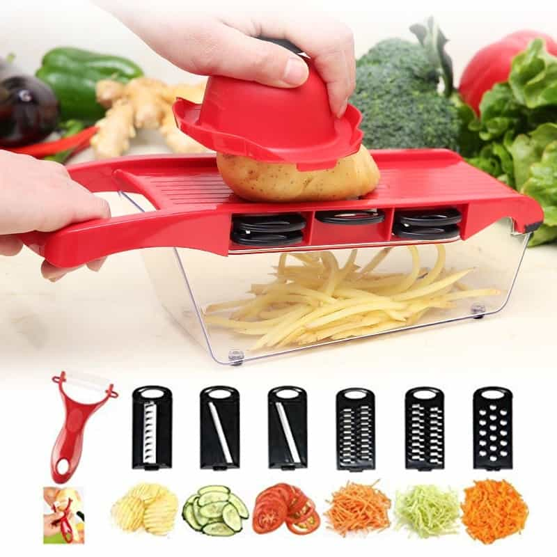 6 In 1 Multifunctional Vegetable Slicer